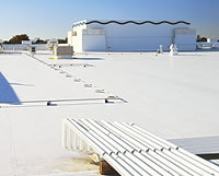 GAF white reflective roofing